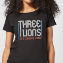Three Lions It's Coming Home Women's T-Shirt - Black