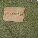 JW Anderson Women's Crew Neck Jumper with Dart Detailing - Khaki