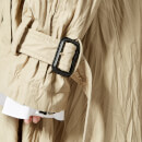 JW Anderson Women's Double Faced Crinkle Trench Coat - Hemp