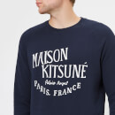 Maison Kitsuné Men's Sweatshirt Palais Royal - Navy