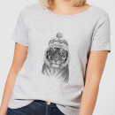 Winter Tiger Women's T-Shirt - Grey