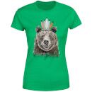 Balazs Solti Native Bear Women's T-Shirt - Kelly Green