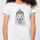 Balazs Solti Lion With Hat Women's T-Shirt - White