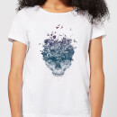 Skulls And Flowers Women's T-Shirt - White
