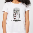 Owl And Moon Women's T-Shirt - White