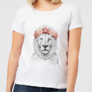 Lion And Flowers Women's T-Shirt - White