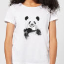Moustache And Panda Women's T-Shirt - White