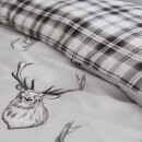Catherine Lansfield Stag Duvet Set - Silver