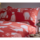 Catherine Lansfield Polar Bear Fleece Duvet Set - Red