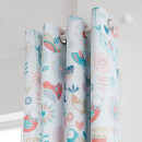 Catherine Lansfield Little Birds Eyelet Curtains - Pastel