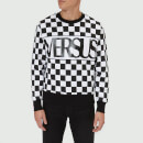 Versus Versace Men's Check Logo Sweatshirt - Black/White