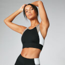 Power Deluxe Sports Bra - Black  - XS - ブラック