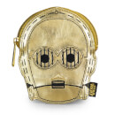 Loungefly Star Wars C-3PO Metallic Gold Faux Leather Face Coin Bag