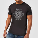 Avengers Distressed Metal Icon T-shirt - Zwart