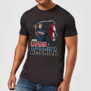 Avengers Captain America Men's T-Shirt - Black
