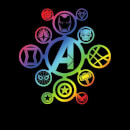 Avengers Rainbow Icon Women's T-Shirt - Black