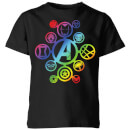 Avengers Rainbow Icon Kids' T-Shirt - Black