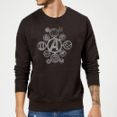 Sweat Homme Distressed Metal Icon Avengers - Noir