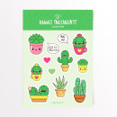 Kawaii Succulents Sticker Pack