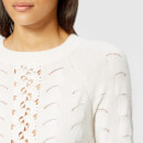 See By Chloé Women's Lace Crochet Knitted Jumper - Crystal White