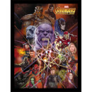 Avengers: Infinity War (Gauntlet Character Collage) Framed 30 x 40cm Print