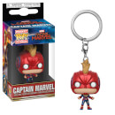 Marvel Captain Marvel - Captain Marvel with Mask Pop! Keychain