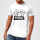 Toy Story Logo Outline Men's T-Shirt - White