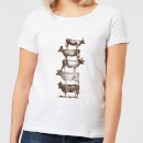 Florent Bodart Cow Cow Nuts Women's T-Shirt - White