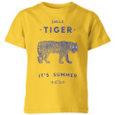 Florent Bodart Smile Tiger Kids' T-Shirt - Yellow