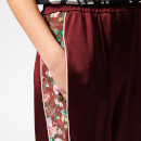 Golden Goose Deluxe Brand Women's Sophie Trousers - Burgundy/Flower Band