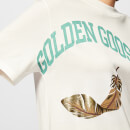 Golden Goose Deluxe Brand Women's Bernina T-Shirt - White/Gold College