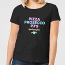 Be My Pretty Pizza Prosecco PJ's Women's T-Shirt - Black