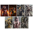 Power Ranger Power Pack 6.5 x 10 Inch Lithograph Prints by Dave Rapoza and Carlos Dattoli - SDCC Exclusive (Set of 7)