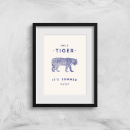 Florent Bodart Smile Tiger Art Print