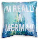 Little Mermaid Sequin Shellfie Square Cushion