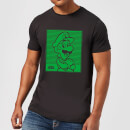Nintendo Super Mario Luigi Retro Line Art Men's T-Shirt - Black