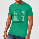Nintendo Super Mario Yoshi Kanji Line Art Men's T-Shirt - Kelly Green
