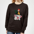 Moana Hei Hei and Pua Women's Sweatshirt - Black