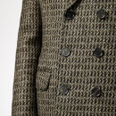 Neil Barrett Men's Double Breasted Overcoat - Multi