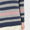 Howlin' Men's Striped Colour Pop Crew Knitted Jumper - Lotion