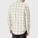 Folk Men's Storm Shirt - Ecru Multi Check