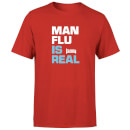 Plain Lazy Man Flu Is Real Men's T-Shirt - Red