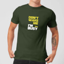 Plain Lazy Don't Wake Me Men's T-Shirt - Forest Green