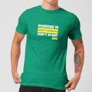 Plain Lazy Exercise Is Highly Addictive Men's T-Shirt - Kelly Green