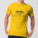 Plain Lazy Chubby and Loving It Men's T-Shirt - Yellow