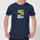 Plain Lazy Don't Wake Me Men's T-Shirt - Navy