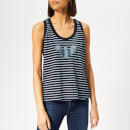 Emporio Armani Women's Stripe Vest - Dark Blue