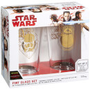Funko Homeware Star Wars: The Last Jedi Set of 2 Pint Glasses - Rule The Galaxy & Feel The Force