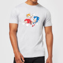 Sonic The Hedgehog Classic Cartoon Group Men's T-Shirt - Grey
