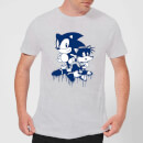 Sonic The Hedgehog Graffiti Men's T-Shirt - Grey